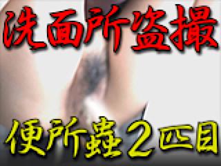 おまんこ丸見え:洗面所盗SATU BEN所蟲リターンズ2匹目:パイパンマンコ